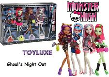 Monster High GHOULS NIGHT OUT 4pk Doll GHOULIA VENUS CLAWDEEN ROCHELLE Exclusive