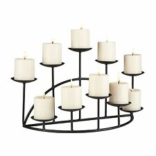 Candle Holder Metal Black Floor Candelabra Mantel Fireplace Platforms Decor Home
