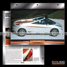#021.08 ★ PEUGEOT 806 RUNABOUT 1997 ★ Prototype Concept-car Fiche Auto Car card