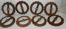 USED FARM ART FLOWERS PLANTER SEED WHEELS STEAM PUNK  (LOT OF 8 WHEELS)