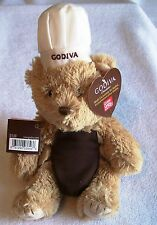 VALENTINE'S DAY SPECIAL ! GUND GODIVA CHOCOLATE TAN TEDDY BEAR PLUSH BAKER CHEF