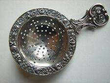 kleines, antikes silbernes Teesieb, Rosen, original Jugendstil