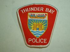Vintage Thunder Bay Police Ontario Canada Police Department Iron On Patch