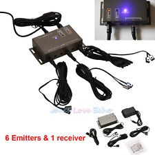 Infrared Remote Extender 6 Emitters & 1 Receiver Hidden IR Repeater System Kit