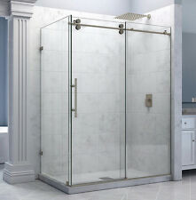 5FT stainless steel decor sliding shower barn door hardware shower room kit