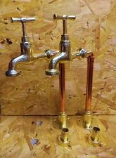 PAIR OF HAND MADE COPPER AND BRASS KITCHEN BELFAST SINK TAPS *free p&p*