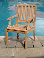 Sack A-Grade Teak Wood Dining Arm Chair Outdoor Garden Patio Furniture New