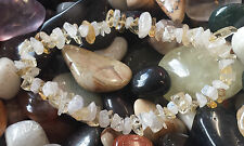 Citrine & Moonstone Chip cordone guarigione bracciale Crystal