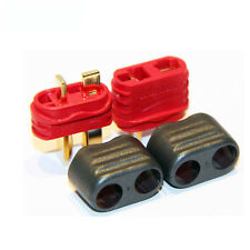 1 pair Amass T Plug Deans Connector With Sheath Housing ESC For RC Lipo Battery