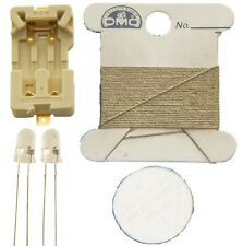 Conductive Thread Kit Light Stitches Blue Conductive Cotton