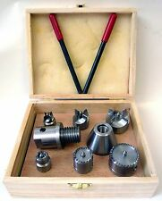 Wood Lathe 7 Pc Multi Spur Drive Center Set + Wood Case fits Shopsmith & 1-8 New