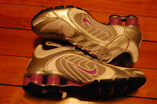 Women's Nike Shox Navina Metallic Silver / Bright Violet Running Shoes (6.5)