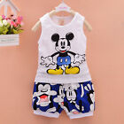 2PCS Toddler Kids Baby Boys Outfit Sleeveless Tops &shorts Casual Clothes sets