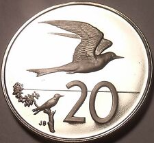 Large Cameo Proof Cook Islands 1972 20 Cents~Fairy Tern~1st Year Ever~Free Ship