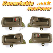 J025 Inside Door Handle Front Rear Left Right Set 4 Brown 92-96 Toyota Camry NEW