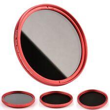 Red Ring Slim FOTGA 55mm Fader Variable Neutral Density ND Filter ND2 to ND400