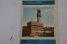 1950 Map of FLORENCE ITALY BY Credito Italiano Florence