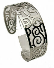 WOMEN'  STAINLESS STEEL1.45'' wide ADJUSTABLE LACE CULF BRACELET FASHAN  BANGLE