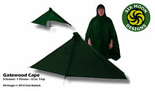 Forest Green - Six Moon Designs Gatewood Cape - 12 oz - 1 Person Tarp/Cape