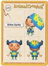 Shine Sprite D01 Animal Crossing Design E-Reader Card Nintendo GBA