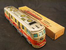 INTERNAL COMBUSTION TRAIN OLD TIN TOY MADE IN CHINA IN LATTA FRICTION JAPAN
