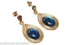 9ct Gold Abalone Paua Shell Drop Earrings Made in UK Gift Boxed