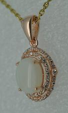 Opal  Zirkonia Anhänger 925 Silber Rot Vergoldet  Sterlingsilber