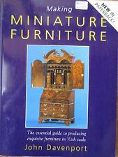 How to Make Miniature Furniture john davenport dollhouse 1/12 projects guide