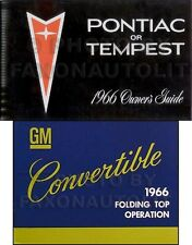 1966 Pontiac Convertible Owner Manual Set GTO Tempest LeMans Bonneville Catalina