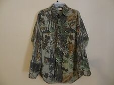 Men's WOOLRICH Realtree Medium M Camo Heavy  Hunting Button-Front Shirt