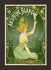 ABSINTHE BLANQUI Vintage French alcohol advertisement 8x10 Art print