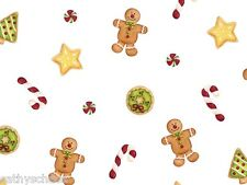 100 Christmas Gingerbread Treats Cookies Candy Cello Gift Bags Cellophane 3x7""