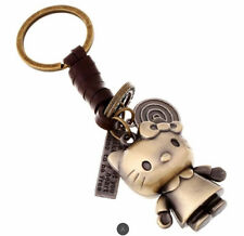 Bronze Plated Hello Kitty Keyring