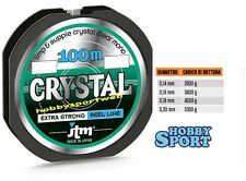 FILO CRYSTAL JTM - 0,16 mm -100 mt -SPECIALE BOLOGNESE-MULINELLO -MADE IN JAPAN