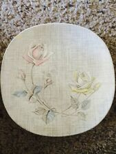 J & G Meakin English Staffordshire Rose Duet Dessert/Bread Plate (chipped)