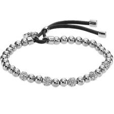 Crystal Bead Stretch Lock Silver Plated Lock Pendant Gold Brand Bracelets