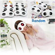 Cartoon Panda Soft Eye Mask Nap Blindfold Sleep Cover Relax Travel Style Random