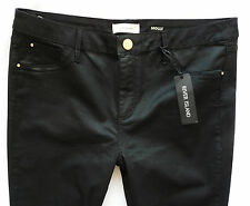River Island Jeans Size 16 R black coated leather  Molly jeggings mid rise 36/29