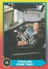 1989 Topps Back To The Future Ii #35 Stealing Some Time! Biff Delorean Dmc