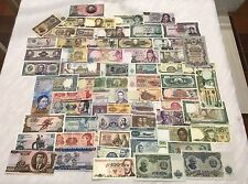 HUGE LOT OF (64) WORLD CURRENCY PAPER MONEY COLLECTION - ALL DIFFERENT! ALL UNC!