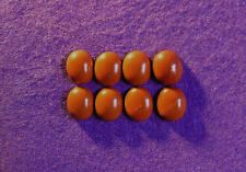 Red jasper cabochon collection 12mm x 10mm ovale, 33.00cts, réf BG-F4