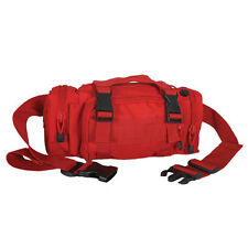 NEW - First Aid - Rapid Response MOLLE Trauma Bag EMT EMS Empty - MEDIC RED