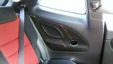 RED STITCH HONDA FITS CIVIC TYPE R 06-11 2X REAR PANEL TRIM SUEDE COVERS ONLY