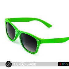 Slime Green Children True Vintage Retro Hip Child Kids Sunglasses Free Case K001