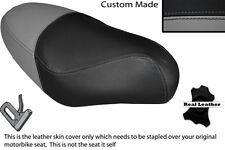 BLACK & GREY CUSTOM FITS PGO RODOSHOW 50 DUAL LEATHER SEAT COVER ONLY