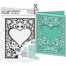 DOCRAFTS XCUT A6 HEART FRAME CUT & EMBOSS FOLDER GREAT FOR WEDDINGS VALENTINES