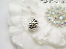 Authentic PANDORA Sterling Silver 14k Gold DOUBLE HEART PERIDOT CLIP Charm 79038
