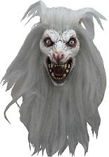 White Werewolf Deluxe Latex Mask w/ Hair Lycan Hell Hound Halloween Adult