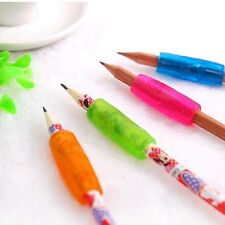 Colorful 4Pc Pencil Grip Child Kid Handwriting Aid Tool Soft Rubber Pen Topper