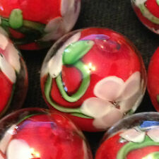 HOM Glass Marbles collectable 16mm Beautiful Handmade marble - Chrysanthemum